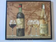 Wine gold kitchen wall decor plaque elegant wine lovers picture handcrafted sign