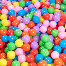 hot 100x  Kids Soft Play Balls Paly Toys for FUN Swim Pit Ball Pool Plastic Ball