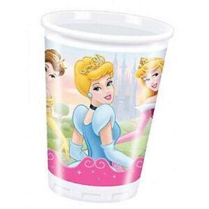 Disney Princess Girls Childs Kids Birthday Party Plastic Cup 200ML 20 Pack