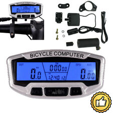 28 Functions LCD Backlight Bike Computer Odometer Bicycle Cycling Speedometer US