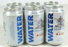 Anheuser-Busch Water 6 Pack 12oz Cans New Sealed 2017 American Red Cross