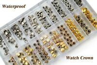 Waterproof Watch Crown Parts Replacement Assorted Gold & Silver for Watch Repair