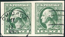 US 531 1¢ 1919 George Washington offset printing F-VF used pair