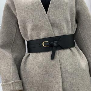 Fashion Elegant Real Leather Wide Waist Belt Pin Buckle Retro Waistband