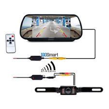 "7"" LCD Monitor/Mirror Car Wireless Backup Rear View Camera Parking Reverse Kit"
