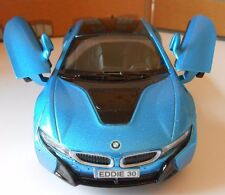 BMW i8 ANY NAME PERSONALISED PLATES Toy Car MODEL boy girl dad BIRTHDAY PRESENT