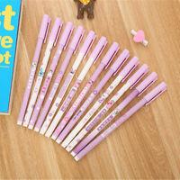 6pcs Cute Cartoon Kawaii Cute Words Gel Ink Roller Ball Point Pen School Kids