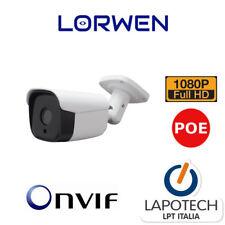 LORWEN IP CAMERA ONVIF WP6518TC 1080P POE BULLET HD H265 H264 1080P CAM 3MPX