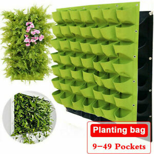 Wall Hanging Planting Bags Green Plant Grow Planter Living Bag Garden Supplies