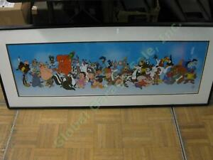 Limited Edition Warner Brothers WB Looney Tunes Line-up Sericel Animation Cel NR