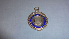 Sterling Silver/enamel pocket watch fob/Médaille North Kensington Challenge Cup 32