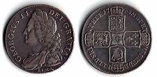 RARE George II Halfcrown 1746 LIMA Edge - DECIMO NONO