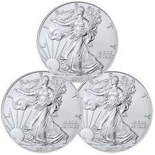 2017 1 Troy oz. American Silver Eagle - Lot of 3 Coins  **EBUCKS BONUS**