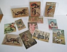 Lot of Antique Victorian Trade Cards (12)