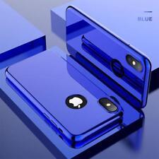 Coque Intégrale pour Apple iPhone 7 Plus Miroir Bleu + Vitre Verre Trempé Anti