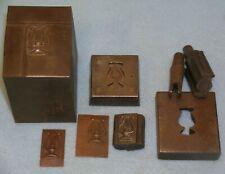 1890s Musician Lyre Hat Badge Stamping Die w/ Trim & Diecut Tools * Mc Lilley