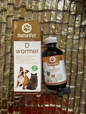 New listing New NaturPet for Cats & Dogs D Wormer 3.3 fl oz Liquid Extract Exp:10/24