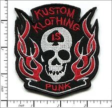 """20 Pcs Embroidered Iron on patches Skull & Fire Punk Badge 3.15""""x3.54"""" AP021mB"""