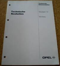 Werkstatthandbuch Opel Monterey Modelljahr 1997