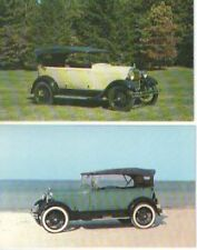 1928 Ford Model A Phaeton Automobile Postcard - lot of 2 - Must See!1