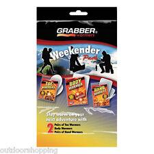 GRABBER WEEKENDER MULTI WARMER PACK - w/2 Hand Warmers/2 Toe Warmers/And 2 Body