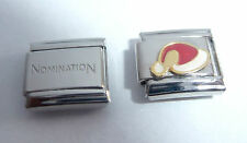 SANTA HAT 9mm Italian Charm & 1x Genuine Nomination Classic Link HAPPY CHRISTMAS