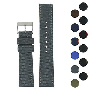 StrapsCo 20mm Nylon Smart Watch Band Strap with Quick Release Spring Bars