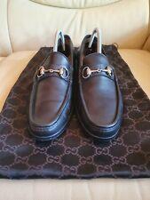 Gucci Mens Black Leather Shoes Horsebit Loafers UK  6.5   US 7.5   EU 40.5