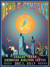 Dead & Company Poster American Airlines Center Dallas, TX 12/1/17 SIGNED