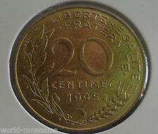 20 centimes marianne 1995 : SPL : pièce de monnaie française