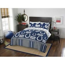 Indianapolis Colts Nfl Queen 5 Piece Comforter Bedding Team Logo Bed in Bag Set