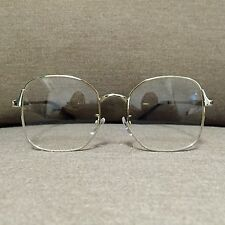 Silver Metal Frame Oversized Vintage Fashion Glasses 60s 80s