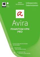 AVIRA Phantom VPN Pro *FLATRATE* bis Dez 2018 Win Mac Iphone/Pad iOS; Cyberghost