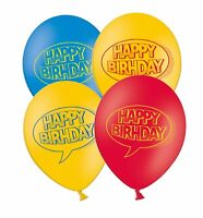 """Superhero Happy Birthday 12"""" Latex Balloons Assorted Colours 15ct by Party Decor"""