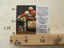 MOTOCROSS MX CARD SIDECARTEAM KOPS & KEANE 1998 ZATERDAG 17 JANUARI SCHAIJK