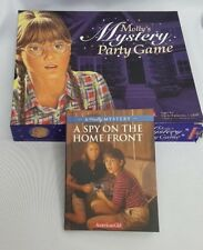 Molly's Mystery Party Game American Girl Complete W/ Novel Spy On The Home Front