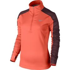 New Women's Nike Thermal Half Zip Long Sleeve Running Top Size 14 Large