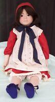Early ALRESFORD Crafts Jane Doll England c1980 Cloth & Porcelain English Toy