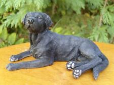 Leonardo Resin Dogs Black Labrador Lying Ideal  Gift