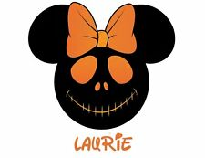 disney halloween minnie mouse personalized jack shirt iron on transfer