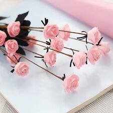 15 Head PE Artificial Small Rose Silk Bouquet Wedding Flowers Home Decoration  .