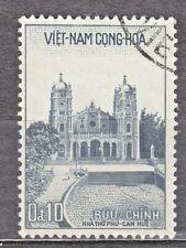 South VIETNAM  1958 used SC#100 10c stamp, Phu Cam Catedral, Hue.
