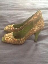 Beautiful J.Renee classy peep toe fabric Occasion shoes