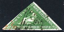 CAPE OF GOOD HOPE 1858 One Shilling Yellow-Green Wmk Anchor SG 8 VFU