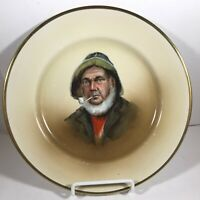 Vintage JOHNSON BROS Fisherman Pipe Portrait Plate TATLER 216