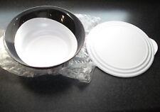 Tupperware Eleganzia Schüssel 3,2 Liter. Salatschüssel mit Deckel, schwarz-weiss