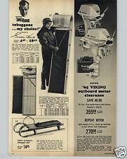 1965 PAPER AD Gordie Howe Toboggans Viking Outboard Motor 15 HP 6 HP