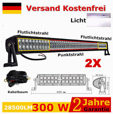 2 x 300W LED Arbeitsscheinwerfer Balken Offroad Lichtbalken 4x4 Lampen SUV 240w