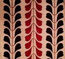 OSBORNE & LITTLE Ambon Serang Silk Red Brown India Remnant New