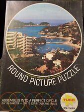 Vintage TUCO Round Picture Puzzle Acapulco Mexico no. 2200 550-600 pcs